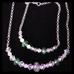 Handmade Sterling 925 Swarovski Necklace Set